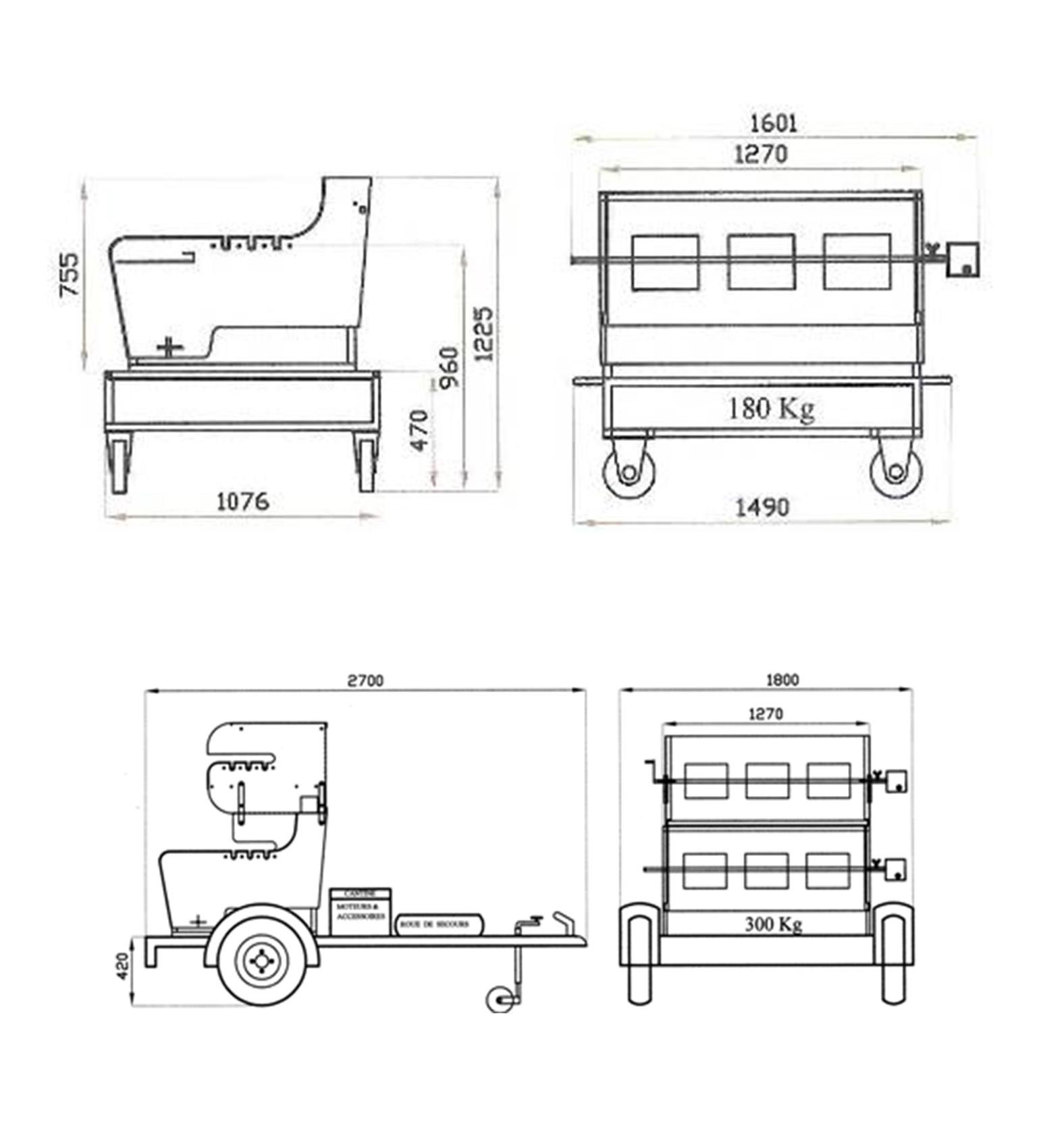 tournebroche prestige combin barbecue et plancha mobigrill. Black Bedroom Furniture Sets. Home Design Ideas