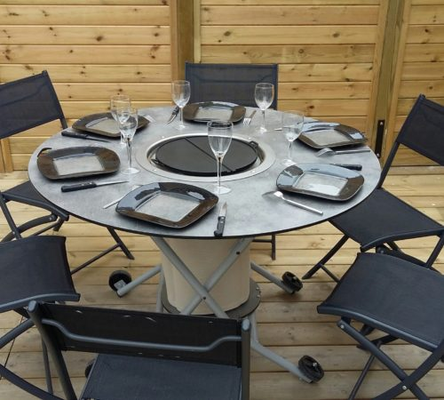 Table plancha, buffet, événement, girll, viande, loire, france