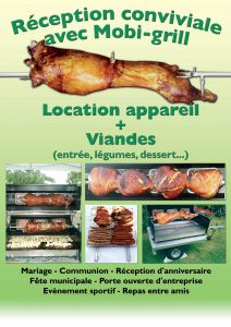 affiche mobigrill communication traiteur rotisserie