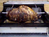 Cuisson cuisse de boeuf à la broche - Mobigrill
