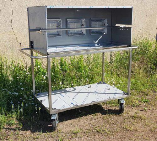Resto-grill sur chariot mobigrill