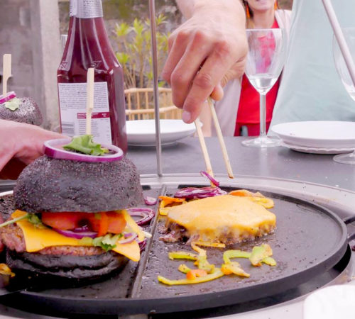 cuisson burger table plancha mobigrill