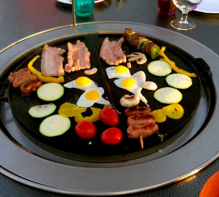 cuisson festive table plancha mobigrill