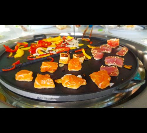 cuisson saumon table plancha mobigrill