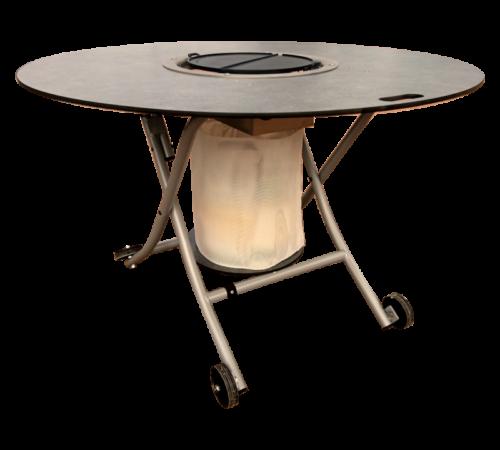 table plancha ronde detouree mobigrill