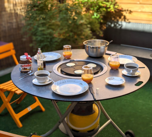 table plancha ronde mobigrill 3 places