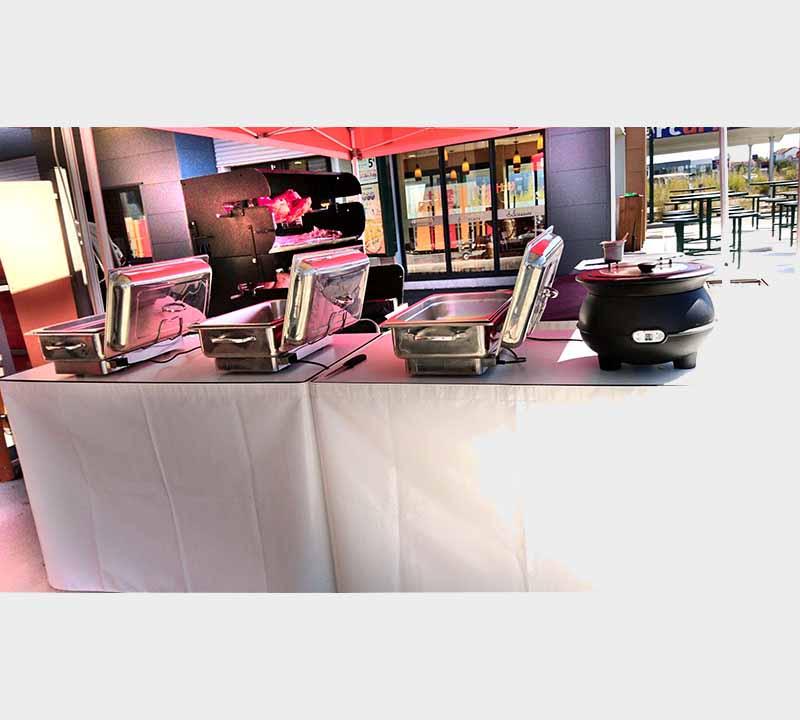 table pliante, traiteur, restaurateur, boucher, ambulant, table modulable, plan de travail, table de découpe, buffet