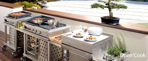 cuisine extérieure complète, Cuisine d'été barbecue, fabrication française