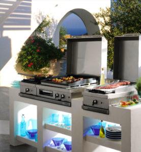 Plancha haut de gamme Plancha grill Fabrication française Open'Cook Mobi-Grill