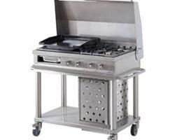 Cuisine d'été barbecue en kit fabrication francaise open cook mobigrill