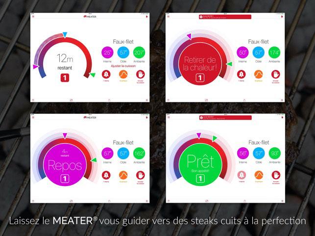 thermometre cuisine, thermomètre de cuisson, thermomètre connecté, thermomètre alimentaire Meater Block mobigrill