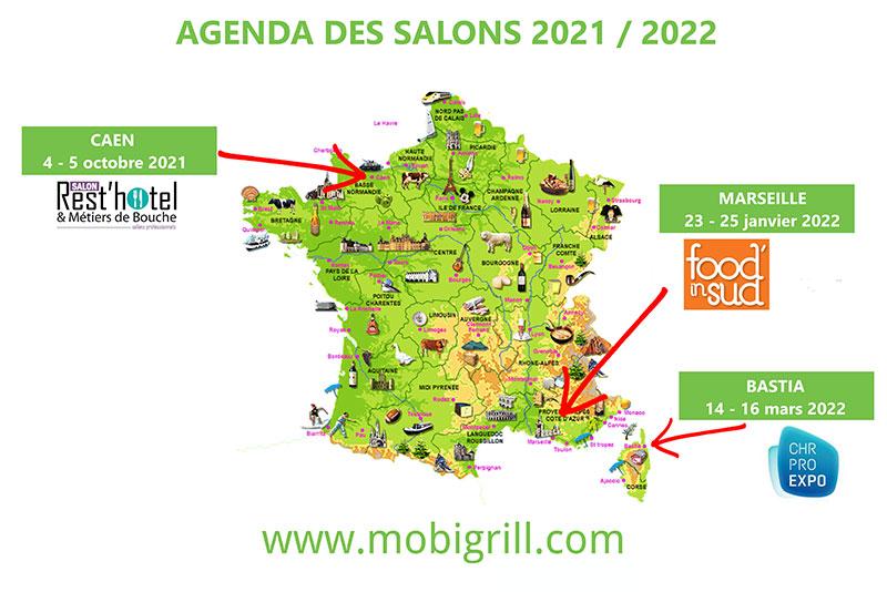 carte des salons Mobi-Grill 2021