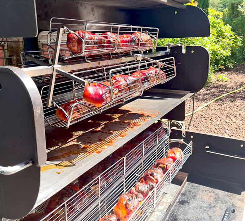 balancelles panier cuisson tourne broche mobile mobi-grill